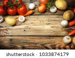 composition with fresh... | Shutterstock . vector #1033874179