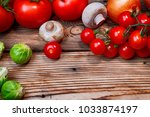 composition with fresh... | Shutterstock . vector #1033874197