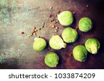 composition with fresh... | Shutterstock . vector #1033874209