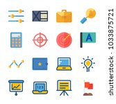 icon business with target ... | Shutterstock .eps vector #1033875721