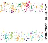 colorful flying musical notes... | Shutterstock .eps vector #1033875925