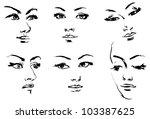 female silhouette. portrait of... | Shutterstock .eps vector #103387625