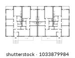 apartment house floor plans.... | Shutterstock .eps vector #1033879984