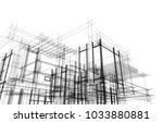 modern house architecture 3d... | Shutterstock . vector #1033880881