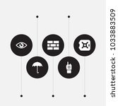set of 5 procuring icons set.... | Shutterstock . vector #1033883509