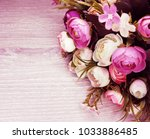 peony flowers bush floral... | Shutterstock . vector #1033886485