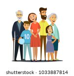 big family . vector... | Shutterstock .eps vector #1033887814