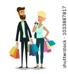 couple of young man and woman... | Shutterstock .eps vector #1033887817