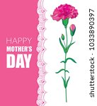 vector greeting card for mother ... | Shutterstock .eps vector #1033890397