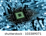 motherboard with processor | Shutterstock . vector #103389071