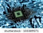 motherboard with processor | Shutterstock . vector #103389071