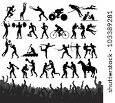 silhouettes of summer olympic...