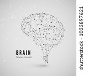 graphic concept of the brain.... | Shutterstock .eps vector #1033897621