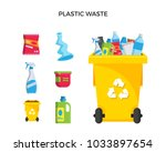 modern yellow recycle plastic... | Shutterstock .eps vector #1033897654