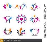 happy family vector... | Shutterstock .eps vector #103389959