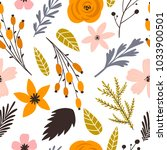 vector seamless pattern with... | Shutterstock .eps vector #1033900501