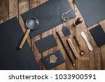 photo of blank black stationery ...   Shutterstock . vector #1033900591