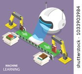 machine learning flat isometric ... | Shutterstock .eps vector #1033903984