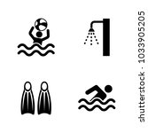 swimming pool. simple related... | Shutterstock .eps vector #1033905205
