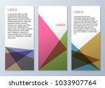design templates for flyers ... | Shutterstock .eps vector #1033907764