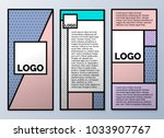 design templates for flyers ... | Shutterstock .eps vector #1033907767