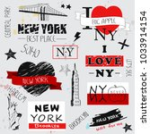 New York Slogan Set Isolated On ...