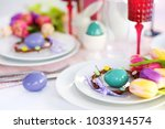 beautiful table setting with... | Shutterstock . vector #1033914574