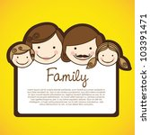 happy family consists of father ... | Shutterstock .eps vector #103391471