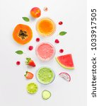 creative layout made of... | Shutterstock . vector #1033917505