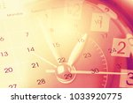 clock face and calendar... | Shutterstock . vector #1033920775