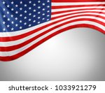 closeup of american flag on... | Shutterstock . vector #1033921279