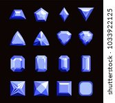 collection of gems and... | Shutterstock .eps vector #1033922125
