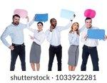 being happy. attractive content ... | Shutterstock . vector #1033922281