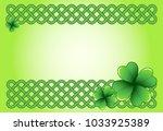 light green saint patrick's day ... | Shutterstock .eps vector #1033925389