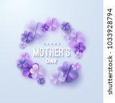 happy mothers day. vector... | Shutterstock .eps vector #1033928794