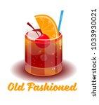 fresh ice frozen alcoholic... | Shutterstock .eps vector #1033930021