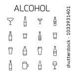 alcohol related vector icon set.... | Shutterstock .eps vector #1033931401