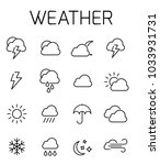 weather related vector icon set....   Shutterstock .eps vector #1033931731