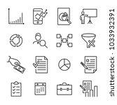 set of freelance thin line... | Shutterstock .eps vector #1033932391