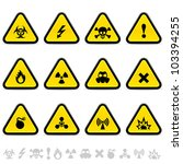 alert triangles | Shutterstock .eps vector #103394255