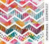 seamless pattern. patchwork....   Shutterstock .eps vector #1033945117