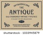 original handmade alphabet.... | Shutterstock .eps vector #1033945879