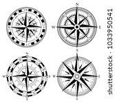 wind rose retro design vector... | Shutterstock .eps vector #1033950541