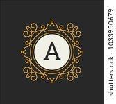 luxury logo vector template for ... | Shutterstock .eps vector #1033950679