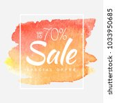 watercolor special offer  super ... | Shutterstock .eps vector #1033950685