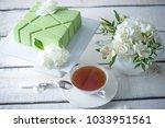 beautiful morning wedding tea...   Shutterstock . vector #1033951561