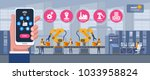 smart industry 4.0 infographic. ... | Shutterstock .eps vector #1033958824