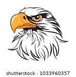 Stock vector regal eagle head 1033960357
