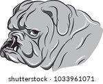 bulldog stink eye | Shutterstock .eps vector #1033961071