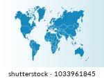 world map vector | Shutterstock .eps vector #1033961845